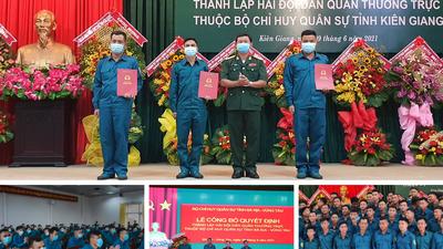 Lễ ra mắt hải đội dân quân biển thường trực tại Bà Rịa - Vũng tàu và tại Kiên Giang