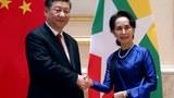 Hình minh hoạ. Bà Aung San Suu Kyi gặp Chủ tịch Trung Quốc Tập Cận Bình ở Naypyitaw, Myanmar (Miến Điện) hôm 17/1/2020