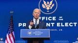 Tổng thống đắc cử Hoa Kỳ Joe Biden phát biểu ở Delaware, vào ngày 10/11/2020.