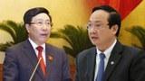 Phó Thủ tướng Phạm Bình Minh (trái) và ông Nguyễn Thế Hùng nguyên phó chủ tịch Hà Nội (phải).