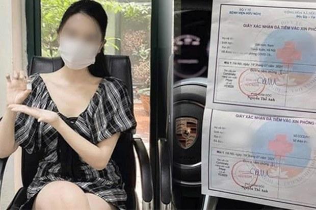 """Hoa khôi báo chí khoe được tiêm vắc-xin nhờ """"ông ngoại"""" bị phạt 12,5 triệu đồng"""