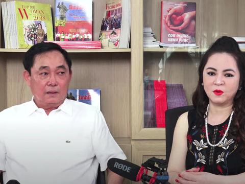 HÌnh minh hoạ. Vợ chồng bà Nguyễn Phương Hằng và Huỳnh Uy Dũng trong một livestream gần đây